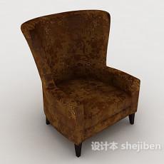 欧式花纹沙发3d模型下载