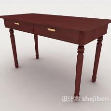 新中式简单书桌3d模型下载