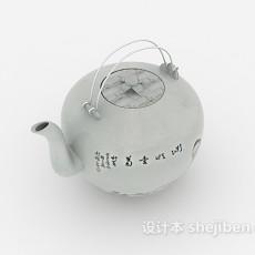 中式茶壶3d模型下载