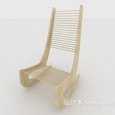 实木摇椅3d模型下载