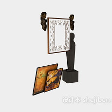 室内装饰挂画3d模型下载