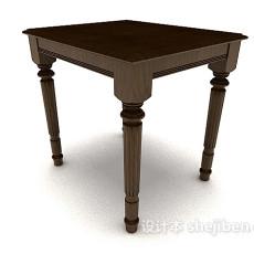 新中式简约木质书桌3d模型下载