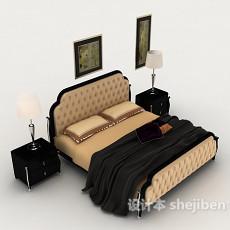 欧式家居床具3d模型下载