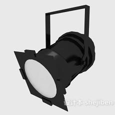 黑色射灯3d模型下载