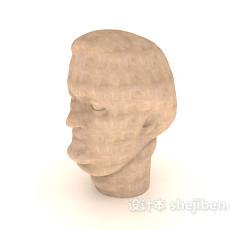 人像雕塑品3d模型下载