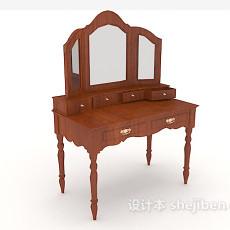 新中式梳妆桌3d模型下载