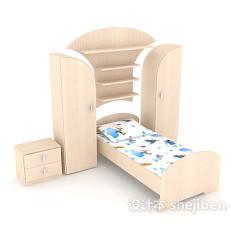 整体型儿童床3d模型下载