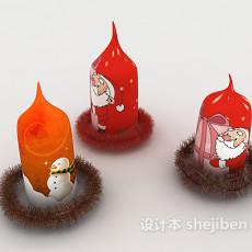 圣诞蜡烛3d模型下载