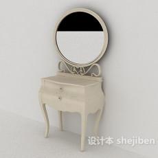 欧式梳妆桌3d模型下载