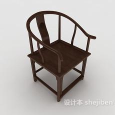 中式经典单人椅3d模型下载