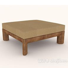 简约方形沙发凳3d模型下载