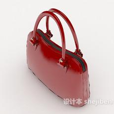 红色女士红皮包3d模型下载