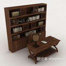 中式书桌椅柜3d模型下载