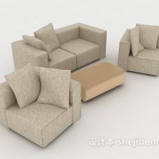 现代花纹组合沙发3d模型下载