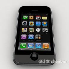 黑色苹果手机3d模型下载