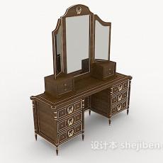 欧式木质梳妆桌3d模型下载