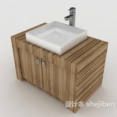 现代简约洗面盆3d模型下载