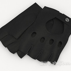 黑色手套3d模型下载