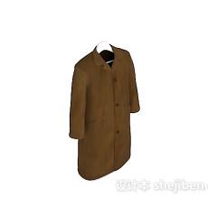 棕色长外套3d模型下载
