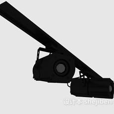 黑色舞台灯3d模型下载