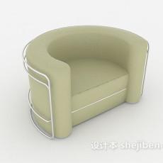 简单现代单人沙发3d模型下载