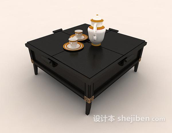 日式餐桌3d模型下载
