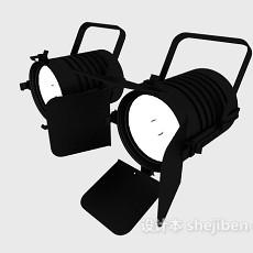 舞台黑色挂式射灯3d模型下载