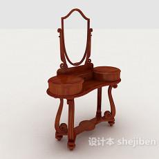 中式梳妆桌子3d模型下载