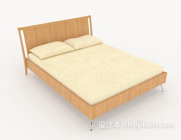 暖黄色双人床