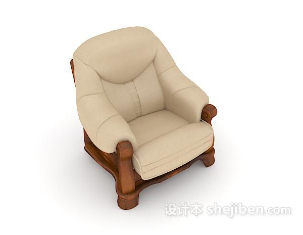 新中式简约单人沙发