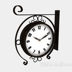 装饰挂钟3d模型下载