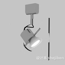 灰色射灯3d模型下载