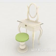 简欧梳妆台椅3d模型下载