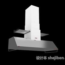 厨房灰色油烟机3d模型下载