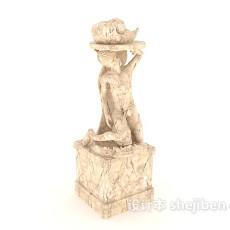 石材雕塑3d模型下载