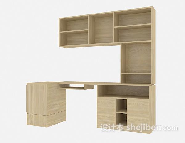 一体式书柜、书桌