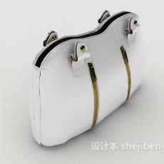 白色手提包3d模型下载