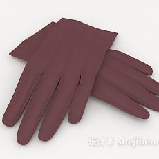 紫色手套3d模型下载