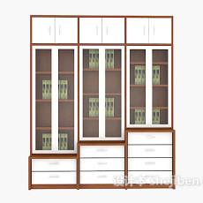 办公室文件柜3d模型下载