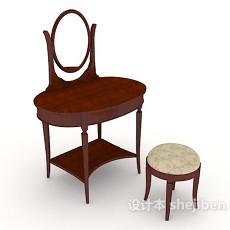 新中式梳妆台椅3d模型下载