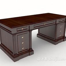 中式方形书桌3d模型下载