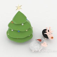 圣诞小饰品3d模型下载