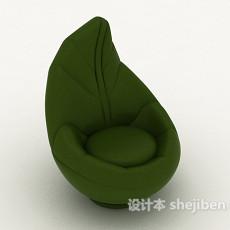 绿叶型单人沙发3d模型下载