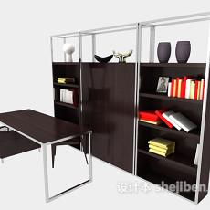 办公室书柜3d模型下载