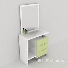 简约梳妆桌3d模型下载