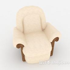现代淡雅单人沙发3d模型下载