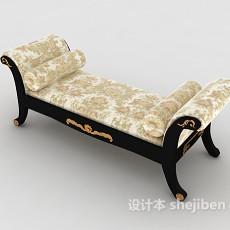中式木质沙发凳3d模型下载