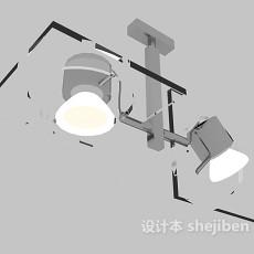 灰色舞台射灯3d模型下载