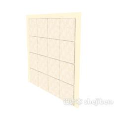 黄色电视背景墙3d模型下载
