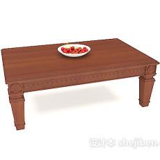 中式雕花茶几3d模型下载